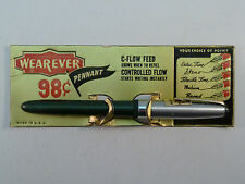 Wearever Pennant Fountain Pen Vintage Green Lever-Fill New on Card Unused 1950s