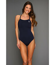 TYR DURAFAST ELITE DIAMOND FIT BACK ONE PIECE SWIMSUIT NAVY BLUE SIZE 38 NEW $68