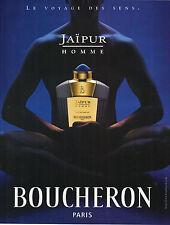 PUBLICITE   1999    BOUCHERON  JAIPUR HOMME parfum