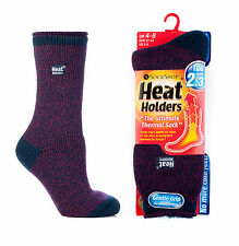 New Season Ladies Heat Holder Socks Indigo Fuchsia Twist Marl Fleck 4-8 uk,5-9us