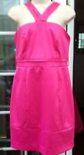 RIVER ISLAND PINK SATIN STRAPPY ABOVE THE KNEE LENGTH DRESS - SIZE 12