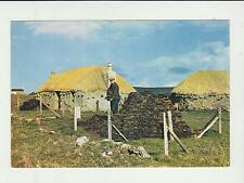Vintage unused Arthur Dixon Postcard Thatched Croft, Isle of Skye, 3803