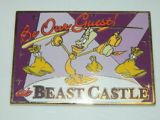 Beauty and the Beast Disney Auctions DA LUMIERE POSTCARD PIN LE 100