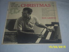 "KEN GRIFFIN ""THE ORGAN PLAYS AT CHRISTMAS"" VINTAGE LP RECORD (KRINGLE'S JINGLE+)"