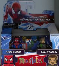 Marvel Minimates Amazing Spiderman 2 Spider-man and Green Goblin MINT