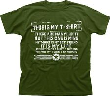 Tshirt Creed Full Metal Jacket parody funny this is my rifle green tshirt TC9490