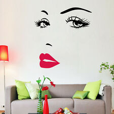 Hot Marilyn Monroe Face Sexy Lip Home Decor Wall Sticker Decals Art Mural DIY