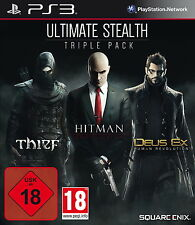 Sony Playstation 3 PS3 Spiel Ultimate Stealth Triple Pack Thief Hitman USK 18