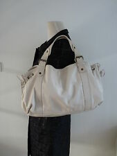 GENUINE GERARD DAREL 24 H CREAM LEATHER BAG  + FREE SHIPPING
