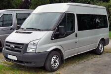 Für Ford TRANST ab 2007  hochwertige, paßgenaue Sitzbezüge  LEDER-LOOK BLAU