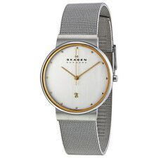 NEW SKAGEN Mens SLIM 2-TONE 355LGSC WATCH w/DATE £100rrp (UKSELLER)