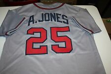 ATLANTA BRAVES #25 ANDRUW JONES CUSTOM ROAD JERSEY SIZE LARGE ALL STAR