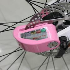 Security Anti Thief Motorcycle Bike Scooter Disc Brake Alarm Key Lock Pink