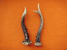 Pair Roe Antler Stag Art Design Decoration for Knife Door Walking Handle # 3153