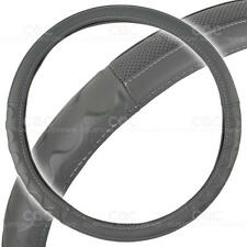 "Motor Trend Big Rig Steering Wheel Cover for Truck 18"" Gray Syn Leather"