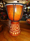 QUALITY HAND MADE DRUM 25 CM HIGH CARVED BONGO DRUM DJEMBE RRP $30 W/SALE OUTLET
