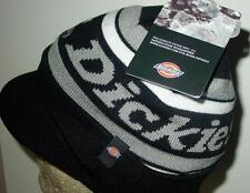 NWT Licensed Dickies Workwear Billed Knit Beanie Hat Black/Gray Last Ones! CR