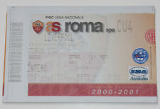 Ticket for collectors EC AS Roma - Liverpool FC 2001 Italy England