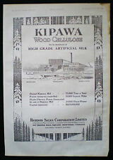 KIPAWA MILL RIORDAN PULP & PAPER CO TEMISCAMING QUEBEC CANADA ADVERT 1927