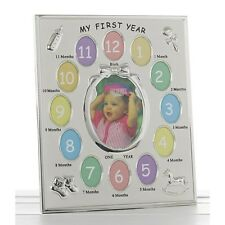 My First Year 1st Silver Plated Photo Frame with 13 photos  Brand New