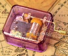 PURPLE GOLD HAND CRANK MUSIC BOX : TONG HUA