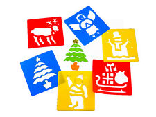 NEW Christmas Stencils Set of 6 Painting Children Picture Art Crafts