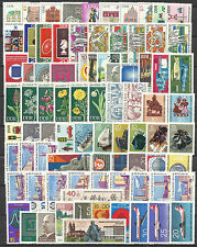 EAST GERMANY DDR 1969 COMPLETE YEAR STAMP COLLECTION 91v & 4 S/Sh MNH