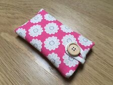 iPhone 6 / 6 Plus Padded Case Cover - Clarke And Clarke Daisy Raspberry Fabric