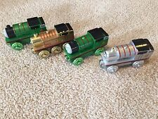 Thomas and Friends wooden train cars. Metallic Limited Edition Thomas And Percy