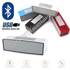 CASSA PORTATILE SPEAKER BLUETOOTH FM MICRO SD MP3 RADIO ALTOPARLANTE SMARTPHONE