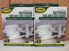 Solar Powered Fence Gutter Light ~ Outdoor Garden Yard Wall Pathway Lamp ~ 2Pk