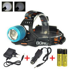 5000Lm XM-L T6  LED Zoom Cabeza Linterna Luz Frontal LÁMPARA Headlamp 2x18650