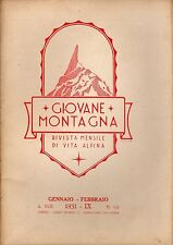 rivista - GIOVANE MONTAGNA - Anno 1931 Numero 1-2