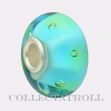 Authentic Trollbeads Silver Turquoise Bubbles Trollbead 61168