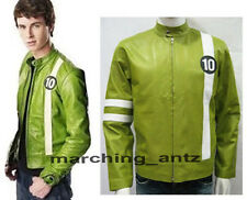 TAILOR MADE BEN 10 GENUINE LEATHER JACKET KIDS cartoon animated idol MEN BEN