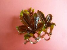signed exquisite brooch small leaf