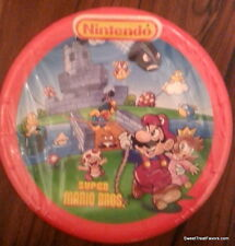 MARIO BROSS  Birthday Decoration Party Plates Supplies Luigi Nintendo Lunch x8 *