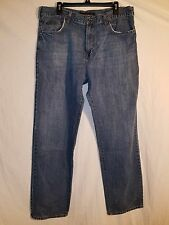 Calvin Klein CK Men's Relaxed Straight Easy Fit Wash Blue Jeans 38x321/2 EUC #66