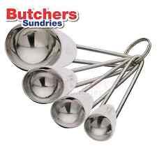 Set of 4 Stainless Steel Measuring Spoons ! / Tbsp / Tsp / ml /  Baking Cooking