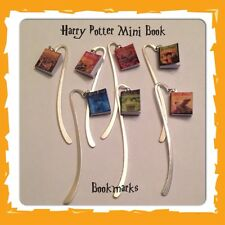 Handmade Harry Potter Inspired Mini Book Charm Bookmark Geeky Gift