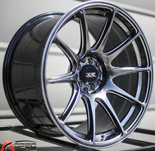 "18X8.75"" XXR 527 WHEELS 5X100/114.3 +20 BLACK RIMS FITS SUBARU IMPREZA WRX"