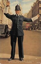 BR79833 policeman on duty in ludgate hill london double decker bus car  uk