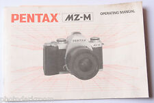 Pentax MZ-M 35mm SLR Film Camera Manual Instruction Book - English - USED B24