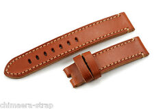 22mm Soft Genuine Leather Flat Watch Band Strap fit 22mm Pin Buckle for Hamilton