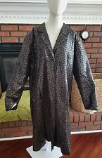 SELENE Sport Black/Brown Animal Print Long Sleeve Trench Coat 2X Goth