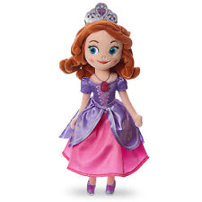 """Disney Store Deluxe Princess Sofia the First Pink Dress Plush Toy Doll 13"""" Tall"""