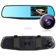 "HD 1080P Car Rear View Mirror 4.3"" Dash Cam Recorder Dual Lens Camera DVR B5UT"