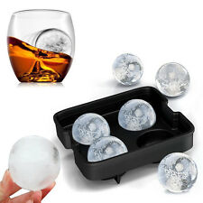 New Silicon Whiskey Ice Cube Ball Tray Mold Sphere Mould Round Brick Party Bar