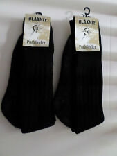 2 PAIR BLACK HEAVY DUTY PATHFINDER BLAXNIT REINFORCED WORKING BOOT SOCKS  6-10