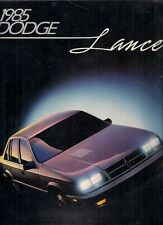 Dodge Lancer 1985 USA Market Sales Brochure Standard ES